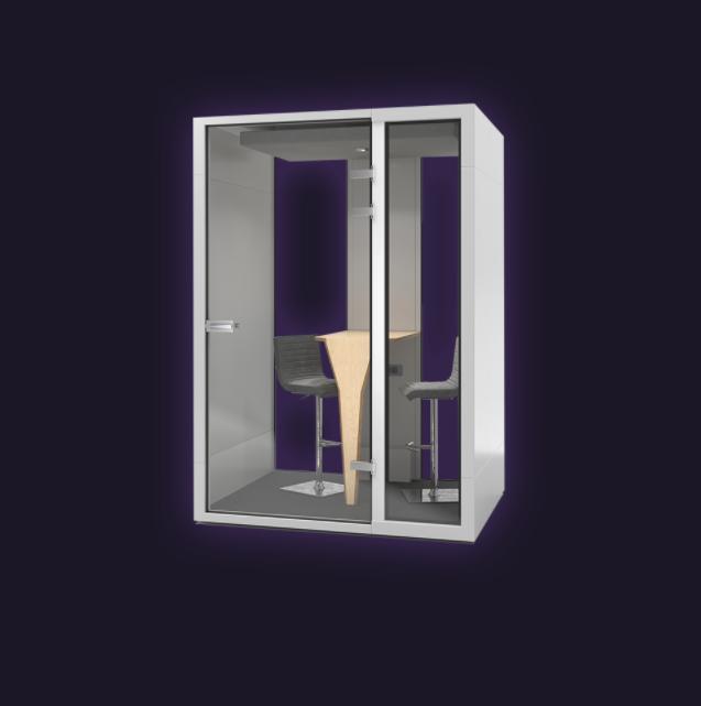 Budka akustyczna 2-osobowa – Idealna do pracy w biurze